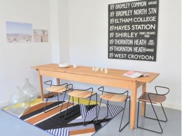 Table de ferme refectoire vintage maison simone nantes paris la baule