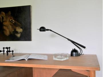 Lampe bureau vintage aluminor années 80 maison simone nantes paris