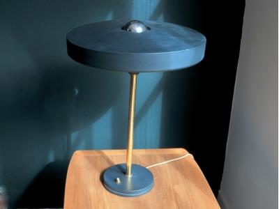 Lampe bureau Kalff philips ufo vintage années 50 maison simone nantes paris la baule