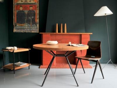 Table ronde vintage rallonge maison simone nantes paris la baule