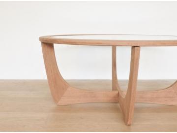 table basse ovale vintage