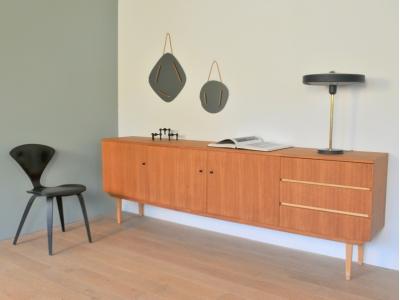 Grande enfilade teck clair vintage design maison simone nantes paris