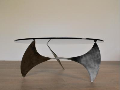 table basse ronde helice propeller knut hesterberg vintage maison simone nantes