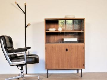 meuble rangement vintage vitrine année 50 60 maison simone nantes