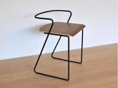 Chaise metal noyer design maison simone editeur