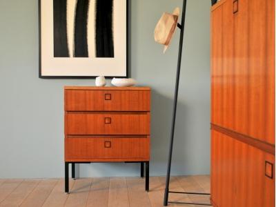 Commode vintage 3 tiroirs année 50 60 maison simone nantes