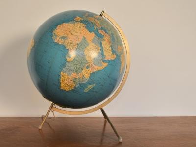 globe terrestre Taride grand eclairé vintage maison simone nantes