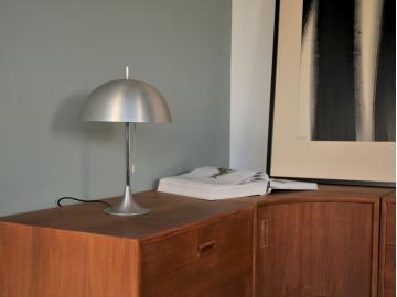 Lampe poser vintage aluminium année 60 maison simone nantes