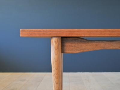 Table basse vintage scandinave rectangulaire wensing holland maison simone nantes