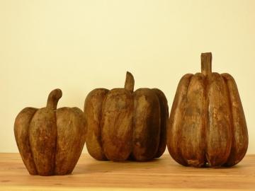 decoration fruits en bois anciens