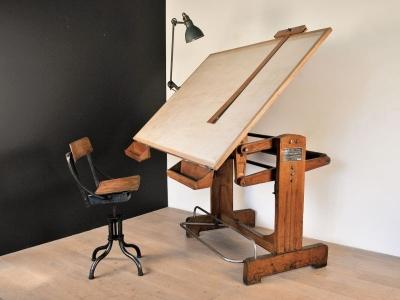 table à dessin vintage