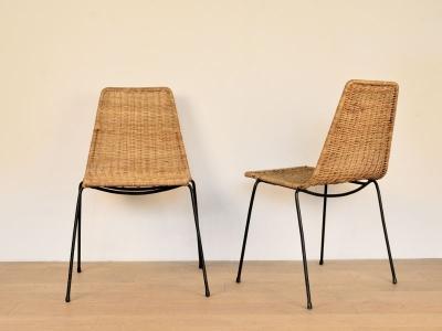 chaise vintage  osier broc nantes