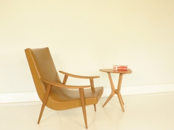 fauteuil boomerang design scandinave