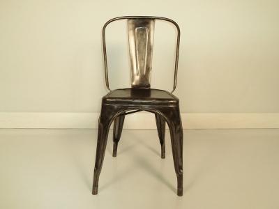 chaise tolix A en acier brut